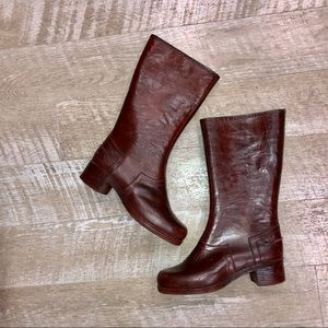 Shoes - Vintage rain Riding Boots Size 8